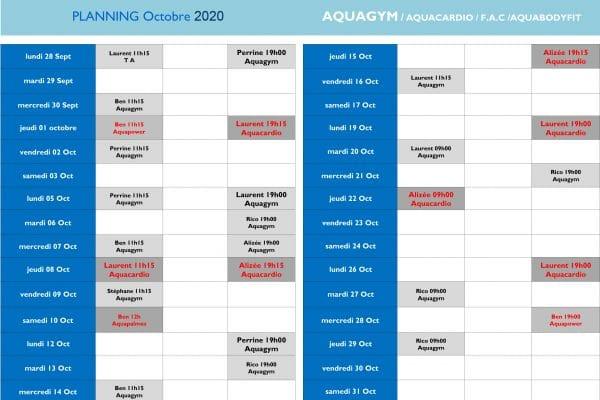 Planning Aquagym