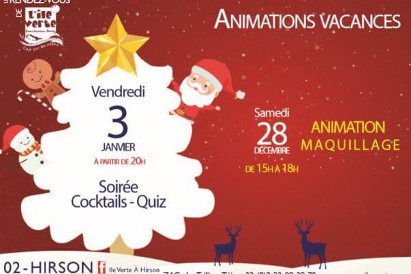 Animations vacances de Noël